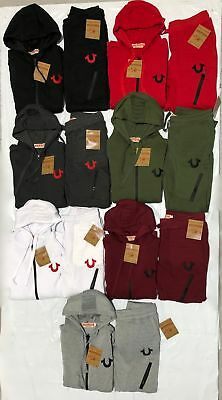 New True Religion Men's Sweat Suit Full Zip Top & Bottom Many Colors Free Ship