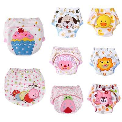 Baby Boys Girls Infant Toilet Pee Potty Training Pants Cloth Diapers Underwear
