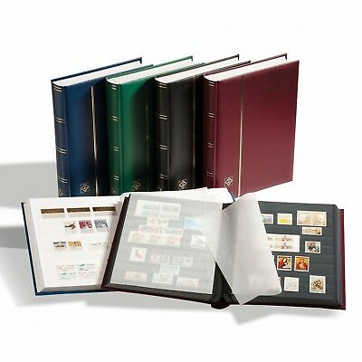 Lighthouse A4 Stockbook COMFORT 64 Black Pages - Padded Red Cover