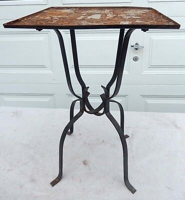 Vintage Steel Table Stand for Mosaic Tile - Old Tile Removed - Ready to be Tiled