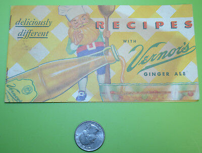 1950's Recipes with Vernors Ginger Ale Brochure Flyer Woodard Ave Detroit Plant