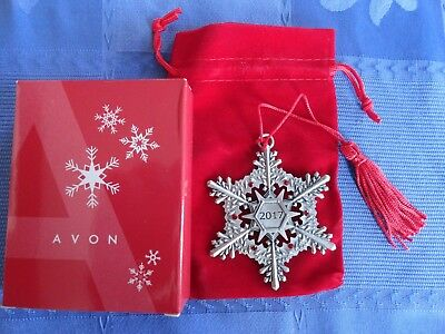 Lot 0F 8 - 2017 Avon Pewter Snowflake Collectible Ornament