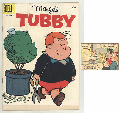 1958 Marge's TUBBY #30 comic book with HEDGING HIS PORTRAIT cover