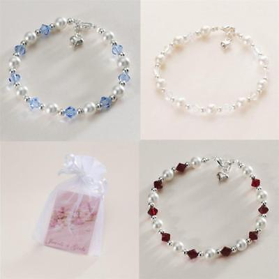 Bridesmaids Bracelet, Wedding Jewellery, Pearl & Crystal, Your Wedding Colours!