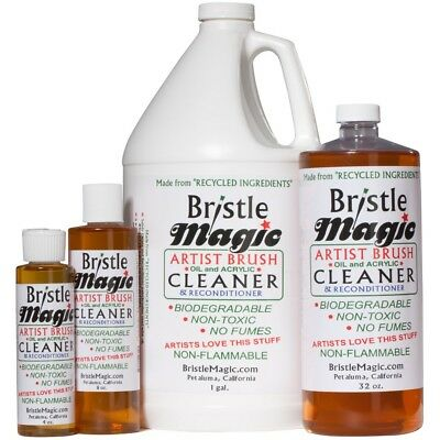 Bristle Magic Artists BRUSH CLEANER - oil acrylic watercolour paint - ALL SIZES