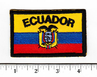 Ecuador Eagle Crest Embroidered Patch...Hat/Shirt...Colorful....#647t