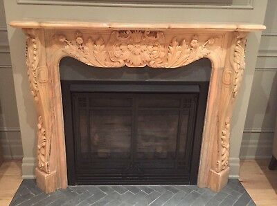 Classic Stone Marble Fireplace EXCELLENT CONDITION