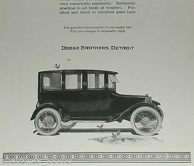 1921 Dodge Brothers Motor Car advertisement, 4-door sedan