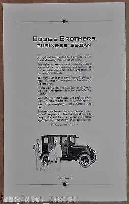 1922 DODGE Business Sedan advertisement, Dodge Brothers, sedan-truck combo