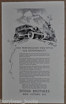 1928 DODGE BROTHERS advertisement, Dodge Victory Six sedan, vintage auto advert.