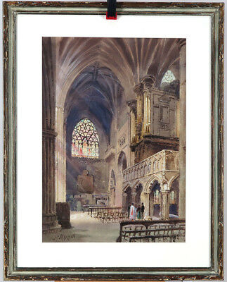 Henry Martin (1837-1902) ARCA OSA Canadian Listed Watercolour Church Interior II