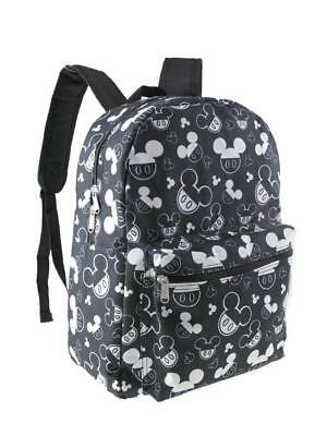 """Mickey Mouse Allover Print Black 16"""" Boys Large School Backpack"""