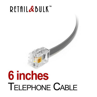6 Inch Short Telephone Cable RJ11 (6P4C) Phone Line Cord
