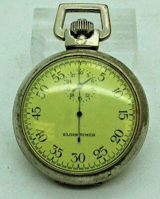 vintage wwii era elgin timer 30 minute stopwatch us military issue