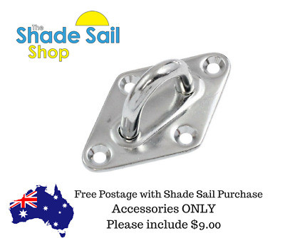 M6 6mm Diamond Pad Eye Stainless Steel fitting Shade Sail Boat Wall plates 6mm