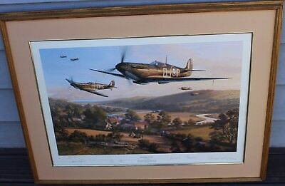 Nic Trudgian print D-Day Armada signed by pilots who flew over Normandy beaches