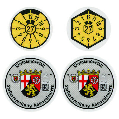 Kaiserslautern Germany License Plate Complete Sticker Set