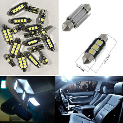 17 PCS Car Interior LED Light Kit for Map & Dome & Footwell & Glove Box Lights