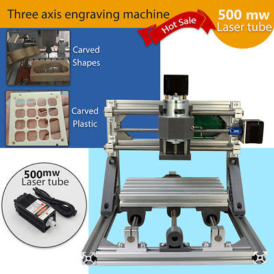 3 Axis CNC Router 500mw laser Engraver Engraving Machine Desktop Carving Cutter