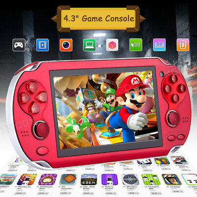 "4.3"" Handheld Video Game Console X7 32 Bit Built-in 300+ Free Retro Games TV OUT"