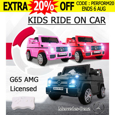 Electric Kids Ride on Car Licensed Mercedes Benz AMG G65 Children Toy Remote 12V