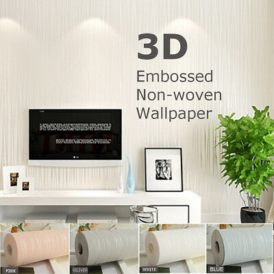 Removable Embossed Vinyl Vintage Wall Paper Home Living Room Wallpaper Art Decal
