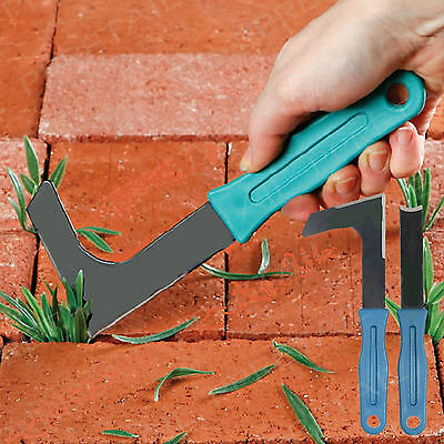 2Pc Garden Patio Weed Knife Weeder Tool Weeding Moss Paving Stone Groove Remover