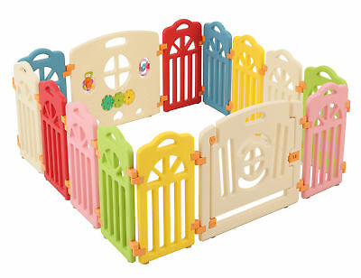 Surreal Playpen Castle For Infant & Baby Den - 14 Panels