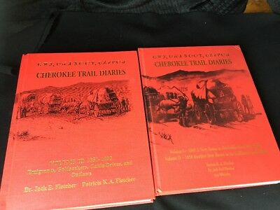 CHEROKEE TRAIL DIARIES-SIGNED Routes-Events-California Gold Fields-3 Vols.