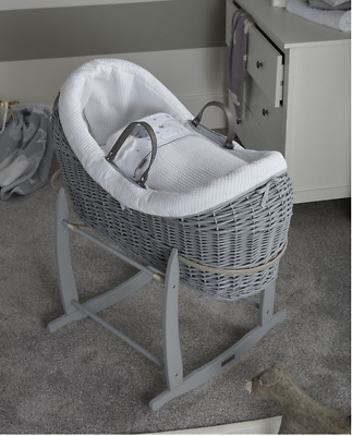 New Clair de lune over the moon grey wrapover noah pod white & grey with stand