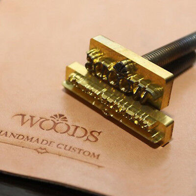 Custom made Brass Logo Seal Stamp  Branding Iron Leather Carving Embossing Tool