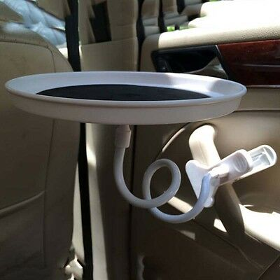 Auto Car Back Seat Table Drink Food Cup Tray Swivel Rack Holder Stand Pupular