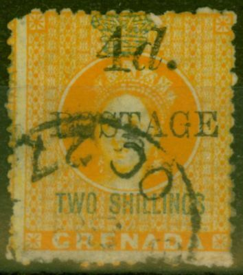 Grenada 1888 4d on 2s Orange SG41 Fine Used
