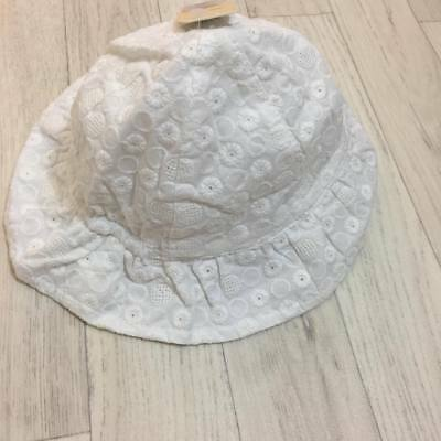 Next Baby Girls Sun Hat White Broiderie 3-9 Months BNWT