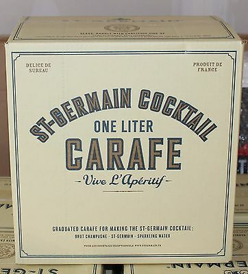 (6) New in Box ST. GERMAIN Glass Cocktail Carafe 1 LITER Case Pitcher Barware