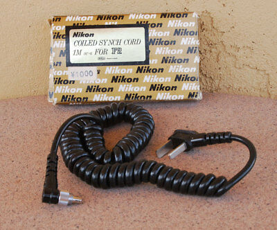 Nikon SC-6 Coiled Sync Cord in box for SB-1 Speedlight Flash to F F2 and others