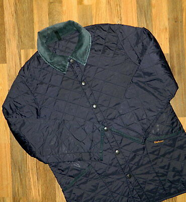 Men's Barbour Liddesdale Quilted Jacket Large L International Dark Blue Casual