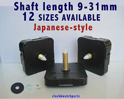 QUARTZ CLOCK MECHANISM MOVEMENT, Round hands-fittings Ø 5.5 & 3.6mm, japan-style