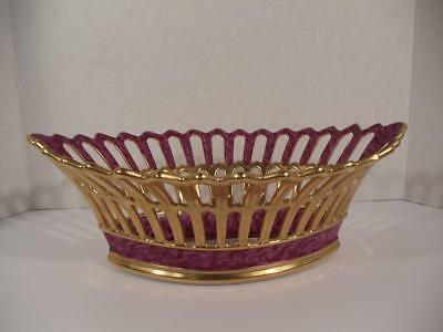 Vintage P. Dussault Limoges France Decorative Bowl