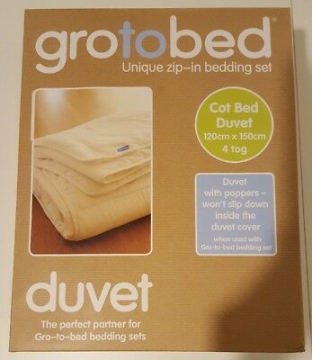 New Gro To Bed Cot Cotbed Duvet The Company Grobag Bnib