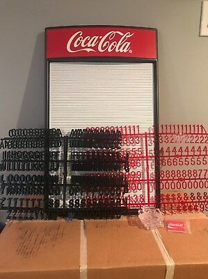 *New* 2' Coca-Cola Countertop Menu Board w 2 letters and 1 number-symbol sets