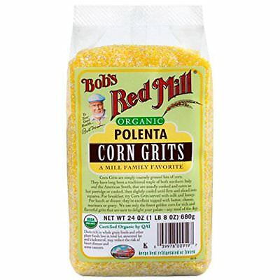 BOBS RED MILL ORGANIC POLENTA CORN GRITS*24oz-NEW-SEALED *FREE SHIPPING*