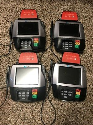 Lot Of 4 VeriFone MX880 Credit Card Terminal with Chip Readers UNTESTED