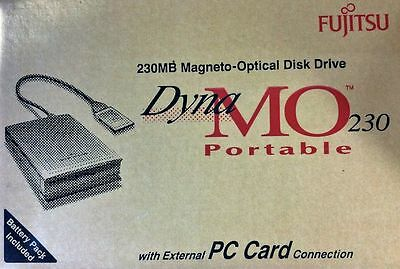 Fujitsu DynaMo 230 Portable External 230MB MO Drive -NEW- with Accessories