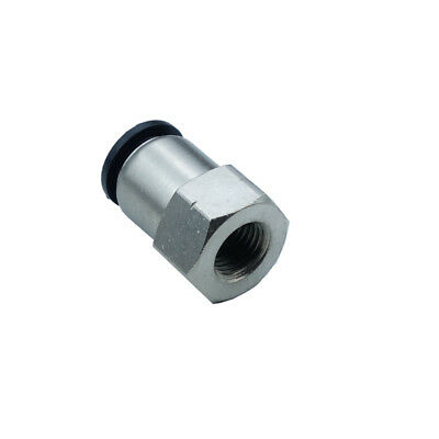 "Pneumatic Push In Air Fitting Straight Female Connector 5/16""OD*1/8""NPT"