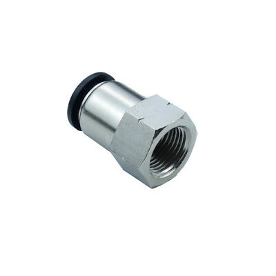"Pneumatic Push In Air Fitting Straight Female Connector 5/16""OD*1/4""NPT"