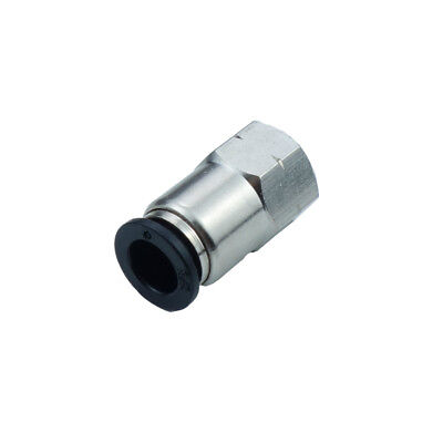 "Pneumatic Push In Air Fitting Straight Female Connector 3/8""OD*1/4""NPT"