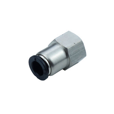 "Pneumatic Push In Air Fitting Straight Female Connector 3/8""OD*3/8""NPT"