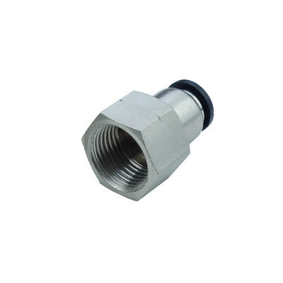 "Pneumatic Push In Air Fitting Straight Female Connector 5/32""OD*1/4""NPT"