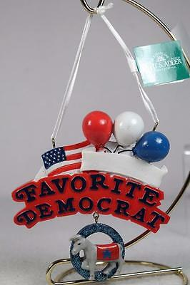 'Favorite Democrat' Ornament By Kurt Adler - Can be Personalized Fun New